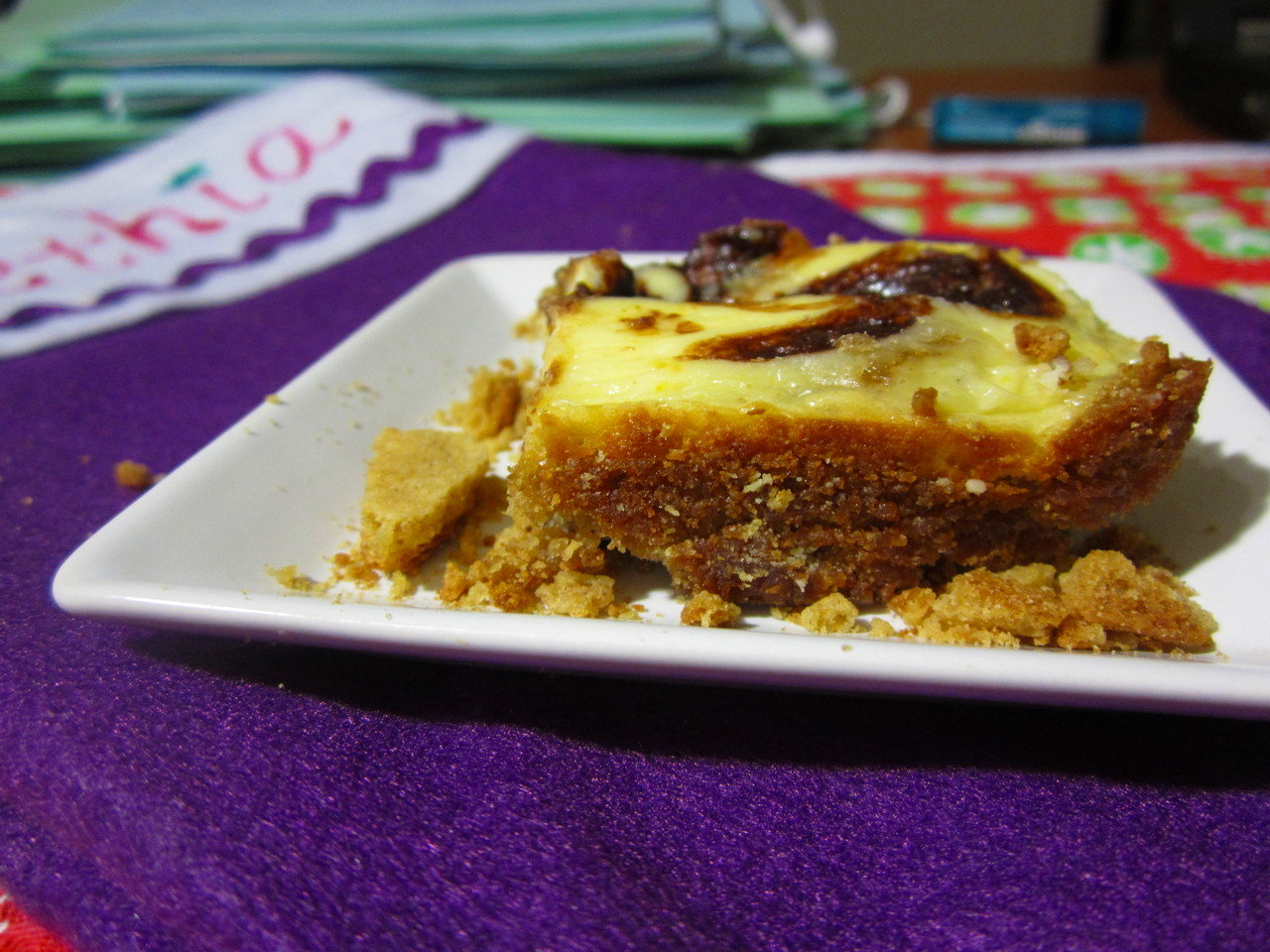 Zesty Orange Cheesecake Gingerbread Blondies 5 (12.17.12)