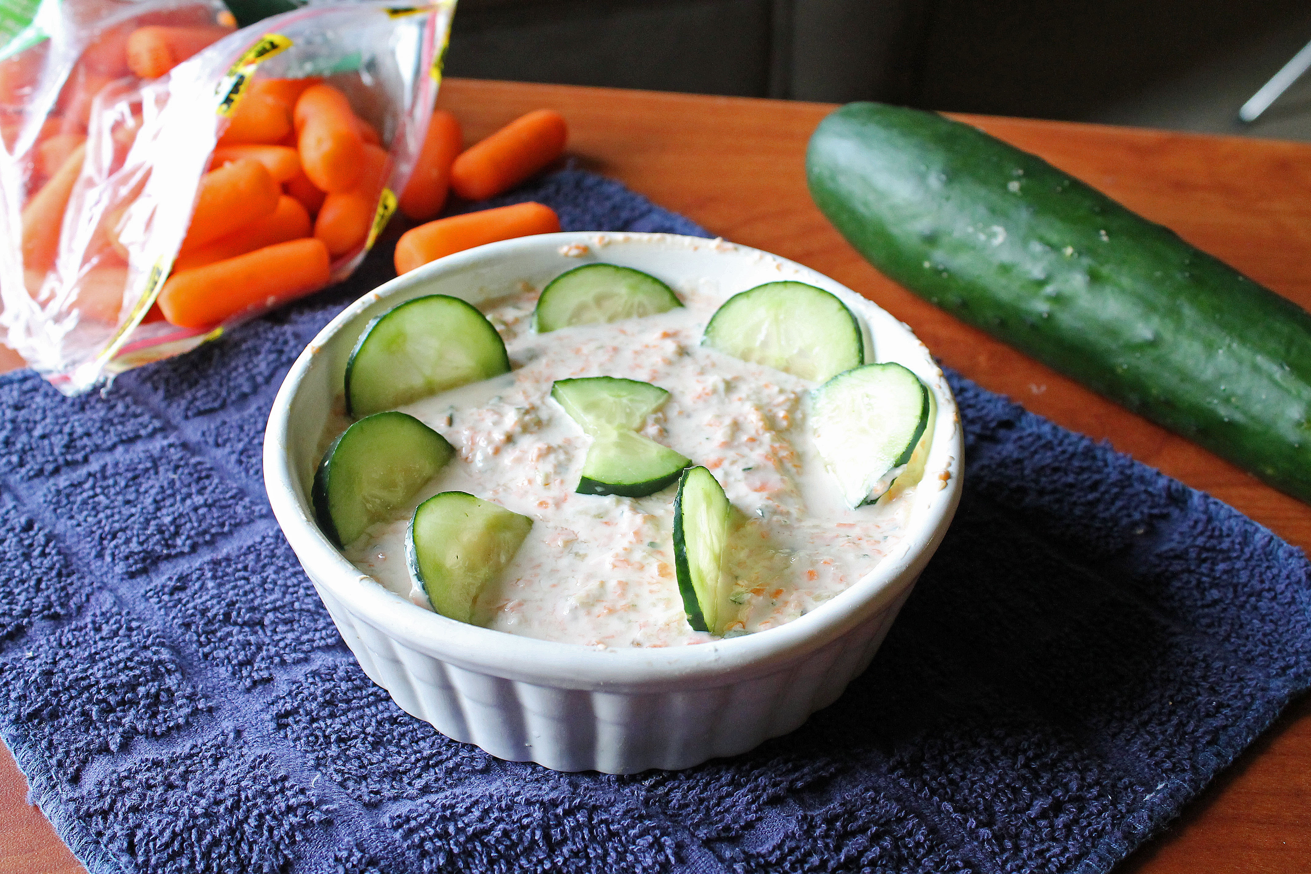 Carrot Cucumber and Nut Yogurt Dip 3--010713