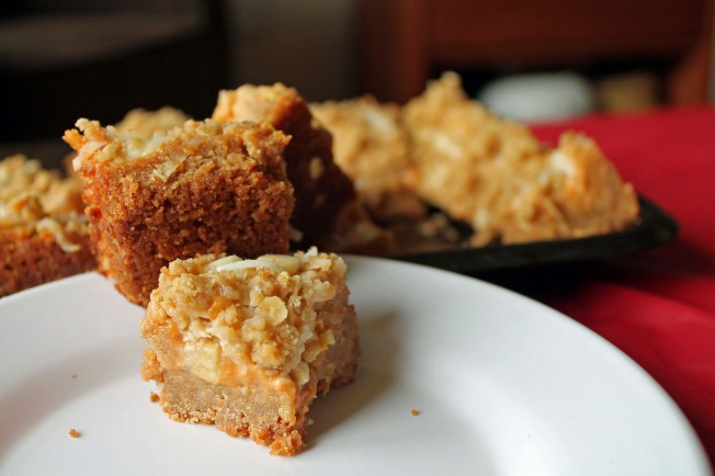 Frosty Pumpkin Streusel Magic Bars 4--031313