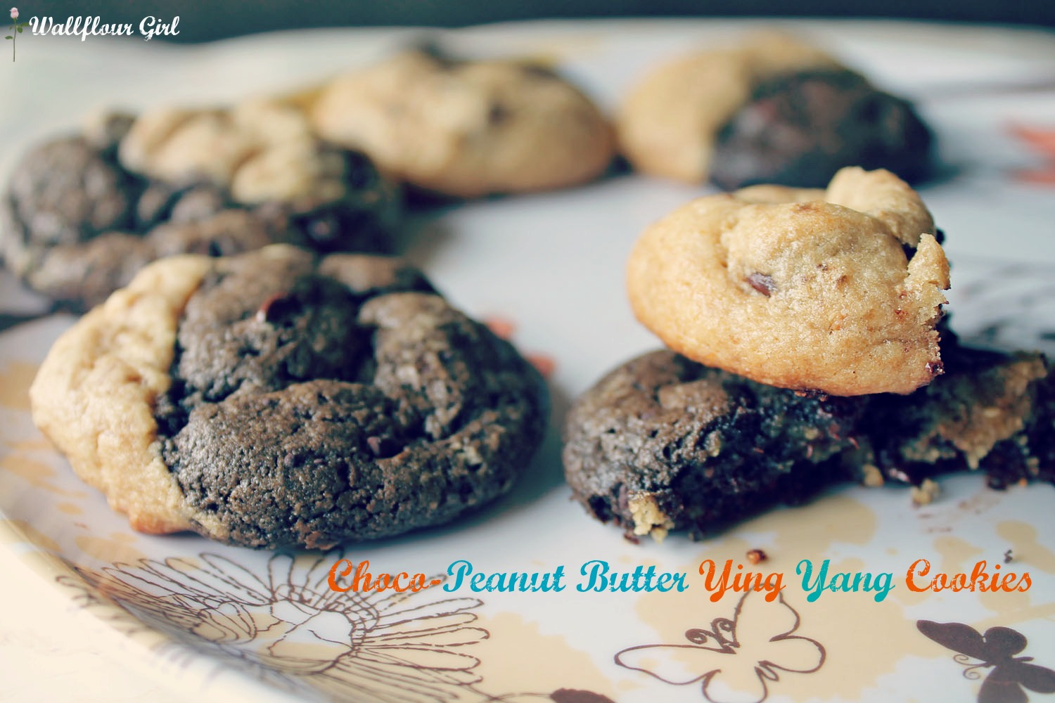 Chocolate Peanut Butter Ying Yang Cookies Banner--041513