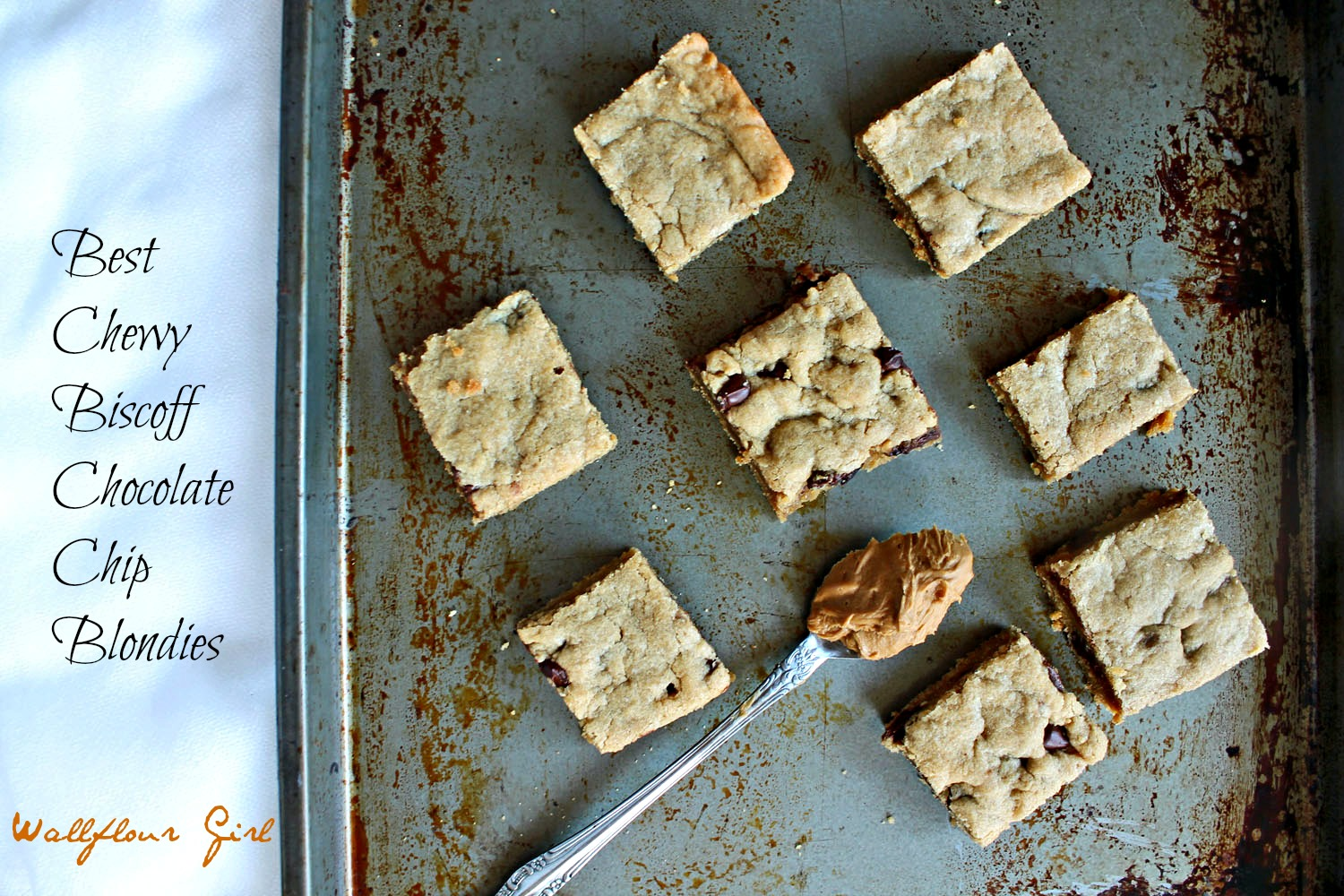 Best Chewy Biscoff (Cookie Butter) Chocolate Chip Blondies | Wallflour ...