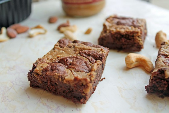 PB Cookie Butter Fudge Truffle Brownies 8--091213